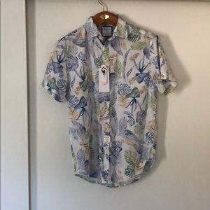 Denim & Flower Hawaiian Style Button-Down